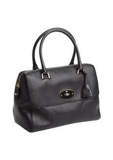 Mulberry black textured leather top handle satchel