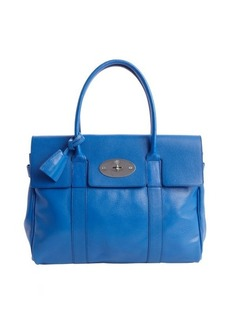 Mulberry blue leather 'Bayswater' top handle bag