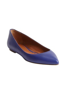 Mulberry blue polished leather ballerina flats