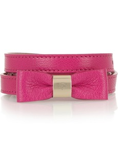 Mulberry Bow-embellished leather waist belt