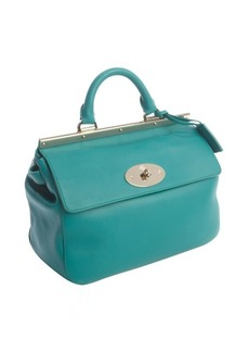 Mulberry emerald calfskin leather 'Suffolk' satchel