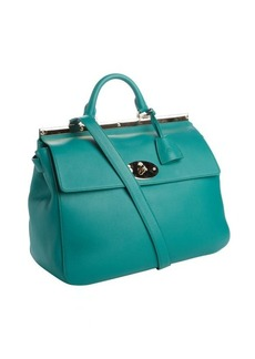 Mulberry emerald leather 'Suffolk' convertible shoulder bag