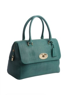 Mulberry emerald lizard embossed 'Del Rey' leather bag