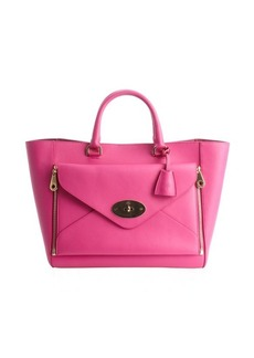 Mulberry fuchsia leather 'Willow' convertible front pocket large tote