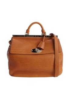 Mulberry ginger embossed leather classic 'Suffolk' large bag