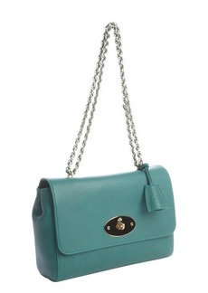Mulberry green calfskin leather chainlink strap shoulder bag