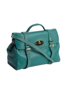 Mulberry green leather 'Alexa' convertible satchel