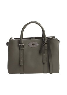 Mulberry grey leather bucklestrap convertible top handle bag