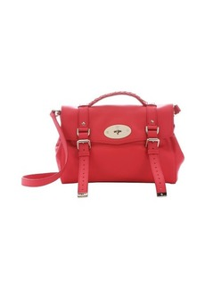 Mulberry hibiscus leather 'Alexa' medium satchel