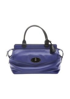 Mulberry indigo leather 'Blenheim' top handle bag