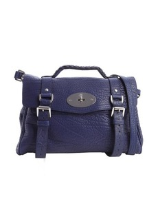 Mulberry indigo pebbled leather 'Alexa' satchel bag