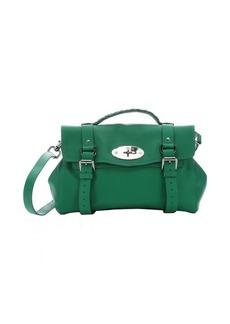 Mulberry jungle green leather 'Alexa' medium satchel