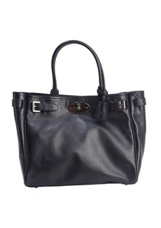 Mulberry midnight blue leather 'Bayswater' top handle tote