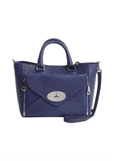 Mulberry navy textured leather 'Willow' detachable pocket convertible tote