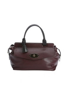 Mulberry oxblood leather 'Blenheim' top handle bag