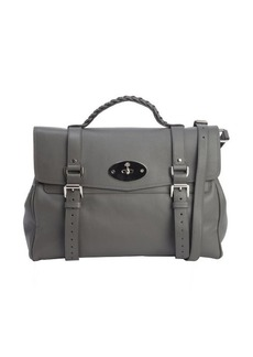 Mulberry pavement grey leather top handle 'Alexa' satchel