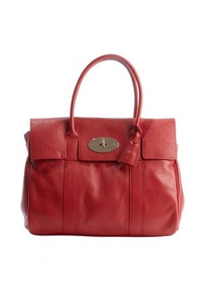 Mulberry poppy red leather 'Bayswater' top handle satchel