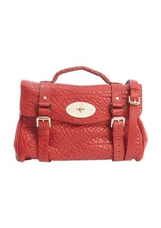 Mulberry poppy red pebbled leather 'Alexa' satchel bag