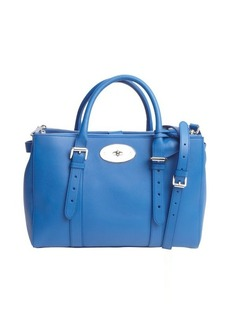 Mulberry royal blue leather convertible top handle bag