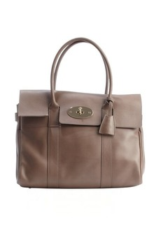 Mulberry taupe leather 'Bayswater' top handle satchel