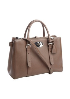 Mulberry taupe leather 'Bayswater' zip shopping tote