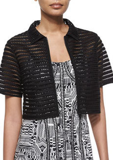 Barely There Mesh Crop Jacket   Barely There Mesh Crop Jacket
