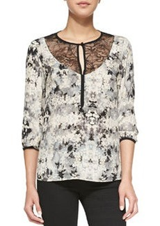 Blackmail Floral-Print Silk Blouse   Blackmail Floral-Print Silk Blouse