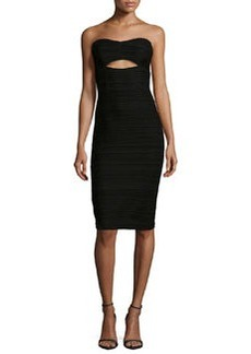 Bombshell Strapless Cutout Cocktail Dress, Black   Bombshell Strapless Cutout Cocktail Dress, Black