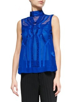 Call-The-Shots Sleeveless Chiffon Top   Call-The-Shots Sleeveless Chiffon Top
