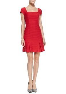 Dedicate Ribbed Knit Drop-Skirt Dress   Dedicate Ribbed Knit Drop-Skirt Dress