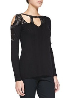 Embellished Vanishing-Act Pullover   Embellished Vanishing-Act Pullover