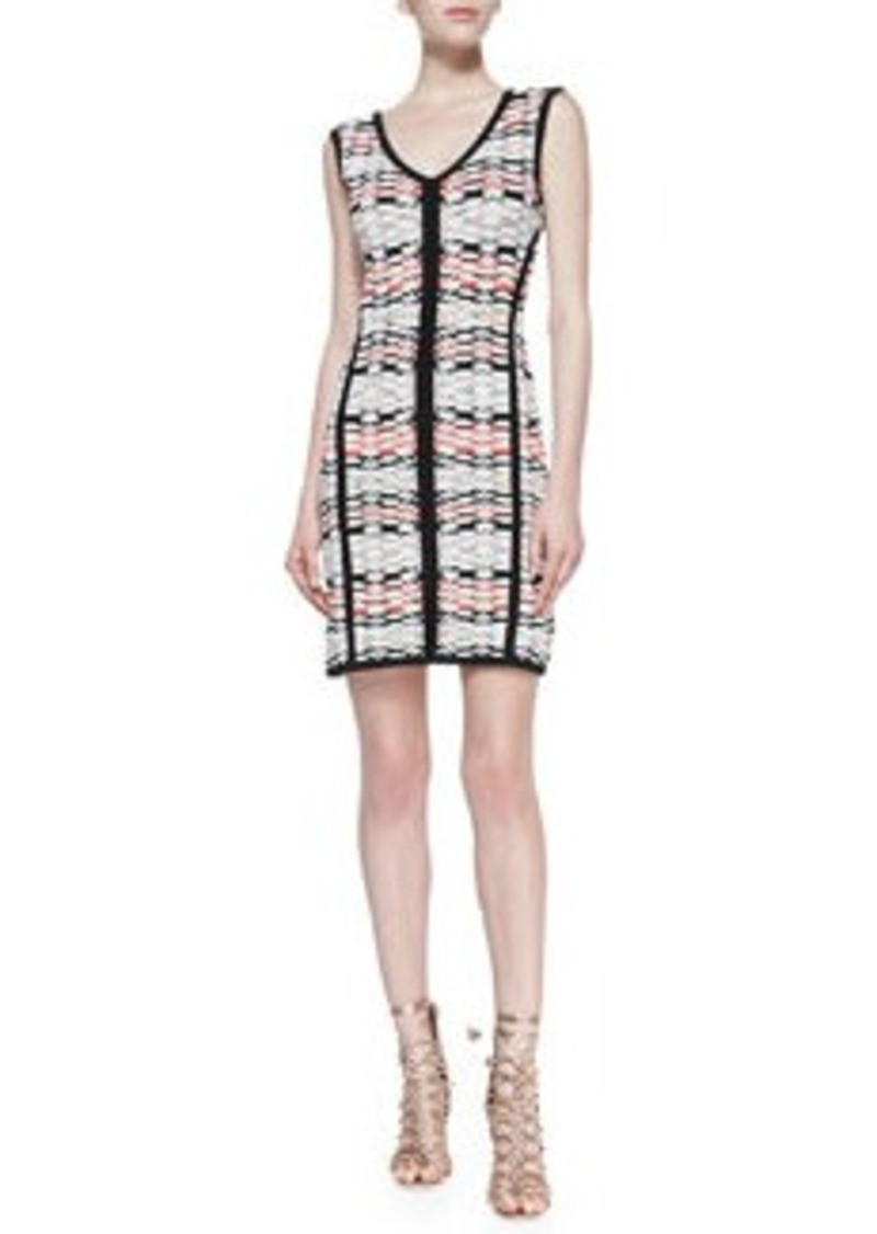 Fierce Printed Solid-Trim Knit Sheath Dress   Fierce Printed Solid-Trim Knit Sheath Dress