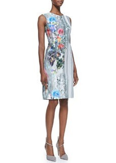 Graphic Floral-Print Book Signing Dress   Graphic Floral-Print Book Signing Dress