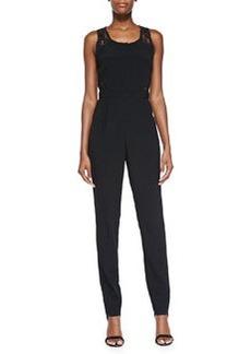 Headliner Jumpsuit W/ Lace Back   Headliner Jumpsuit W/ Lace Back