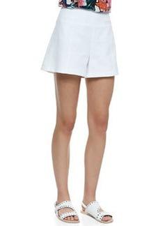 Hideaway Wide-Leg Pique Shorts   Hideaway Wide-Leg Pique Shorts