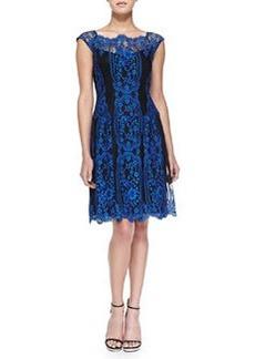 Lace Cap-Sleeve Burlesque Dress   Lace Cap-Sleeve Burlesque Dress