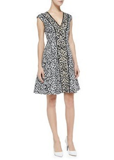 Librarian Floral-Print Sateen Dress   Librarian Floral-Print Sateen Dress