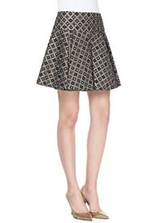 Magician Diamond Woven Pleated Mini Skirt   Magician Diamond Woven Pleated Mini Skirt