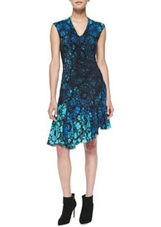 Mystery Asymmetric Floral-Print Dress   Mystery Asymmetric Floral-Print Dress