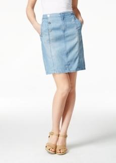 Nanette by Nanette Lepore Ahoy Sailor Atlantic Wash Denim Skirt