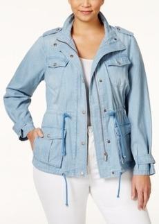 Nanette by Nanette Lepore Plus Size Denim Anorak Jacket, Only at Macy's