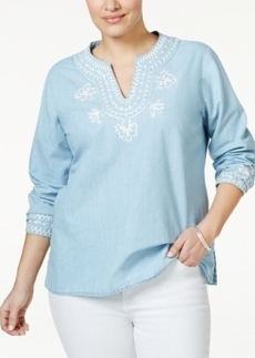 Nanette by Nanette Lepore Plus Size Embellished Tunic, Only at Macy's