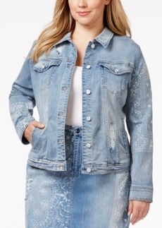Nanette by Nanette Lepore Plus Size Tall Tales Denim Origami Wash Jacket, Only at Macy's