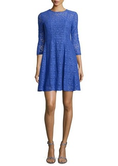 Nanette Lepore 3/4-Sleeve Lace Fit & Flare Dress  3/4-Sleeve Lace Fit & Flare Dress