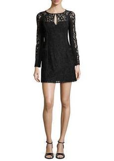 Nanette Lepore Adora Long-Sleeve Floral-Lace Dress