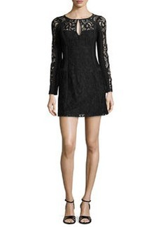 Nanette Lepore Adora Long-Sleeve Floral-Lace Dress