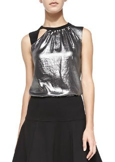 Nanette Lepore All Nighter Metallic Sleeveless Top