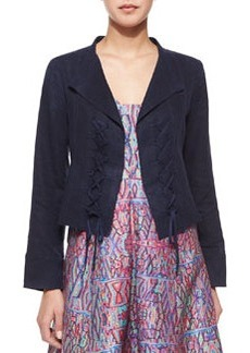 Nanette Lepore Angle Falls Structured Lace-Up Jacket