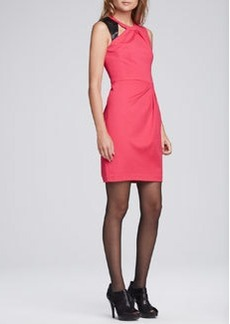 Nanette Lepore Asteroid Leather-Detail Dress