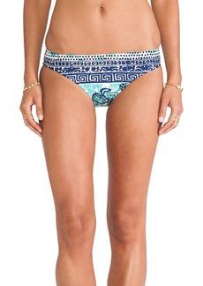 Nanette Lepore Batiki Print Charmer Bikini Bottom in Teal